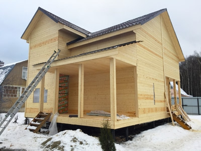 временный дом на период строительства