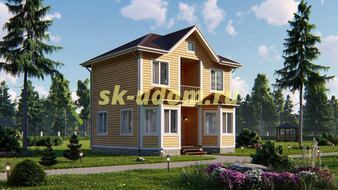 Дачный каркасный дом ДКД-1
