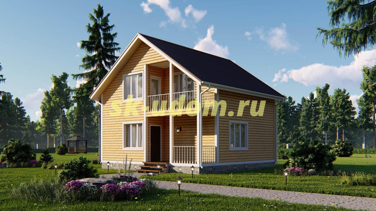 Дачный дом. Проект ДКД-19