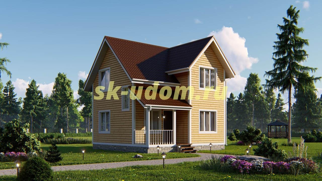 Дачный дом. Проект ДКД-29