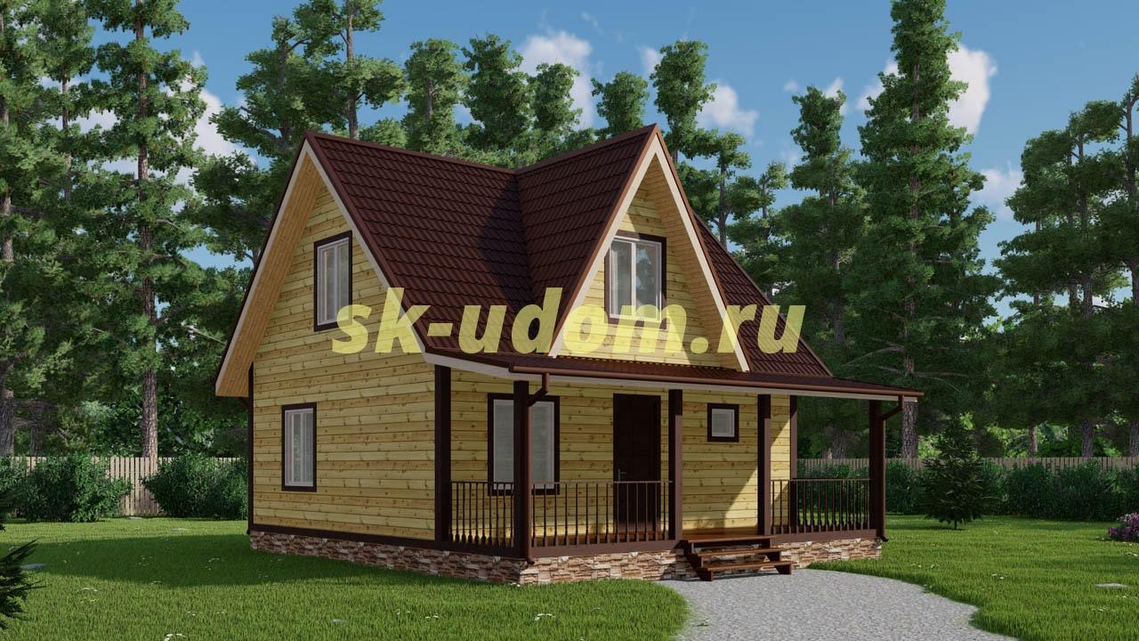 Каркасный дом 8х9 для постоянного проживания