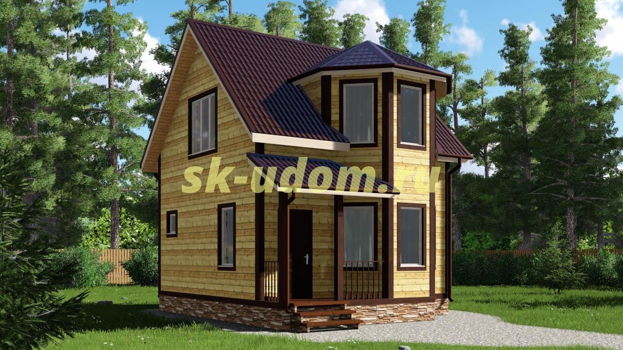 Каркасный дом. Проект ДК-20