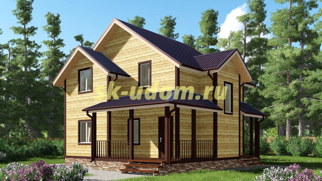 Каркасный дом. Проект ДК-21