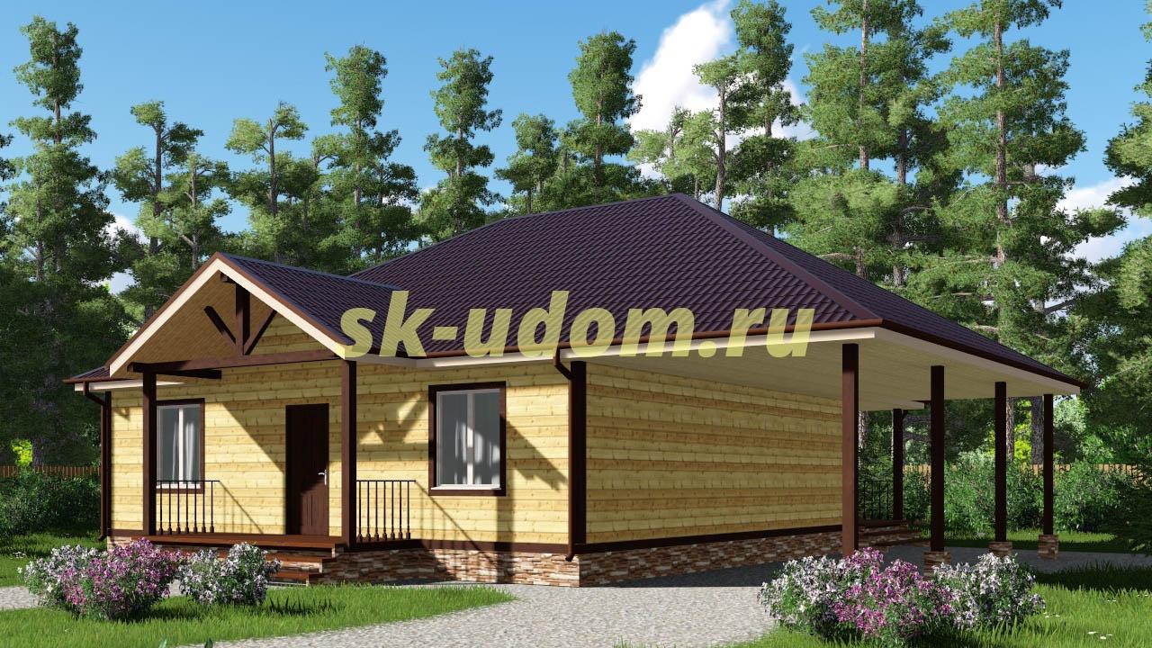 Каркасный дом. Проект ДК-22