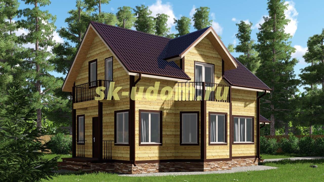 Каркасный дом. Проект ДК-23