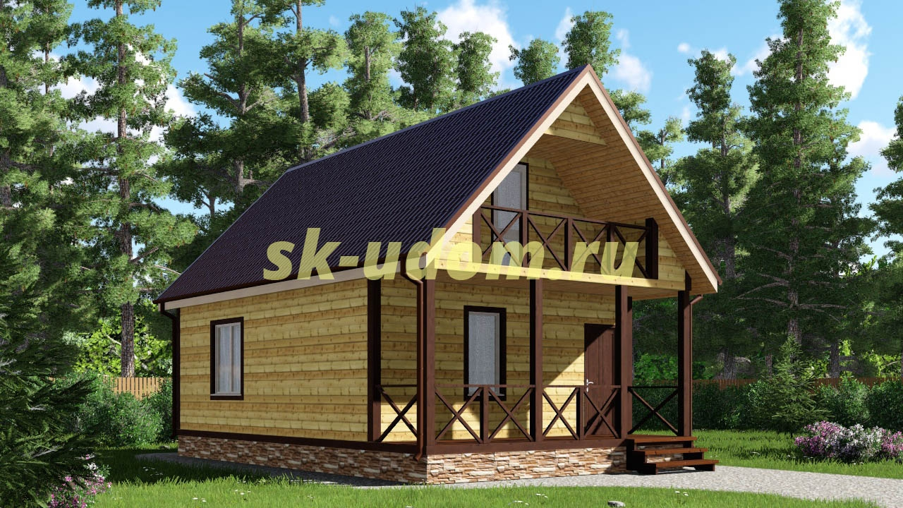 Каркасный дом. Проект ДК-44
