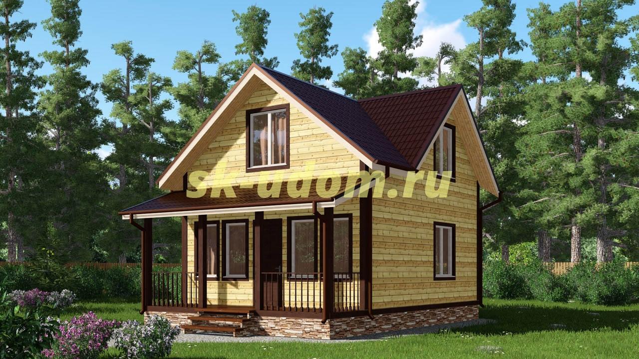 Каркасный дом. Проект ДК-49
