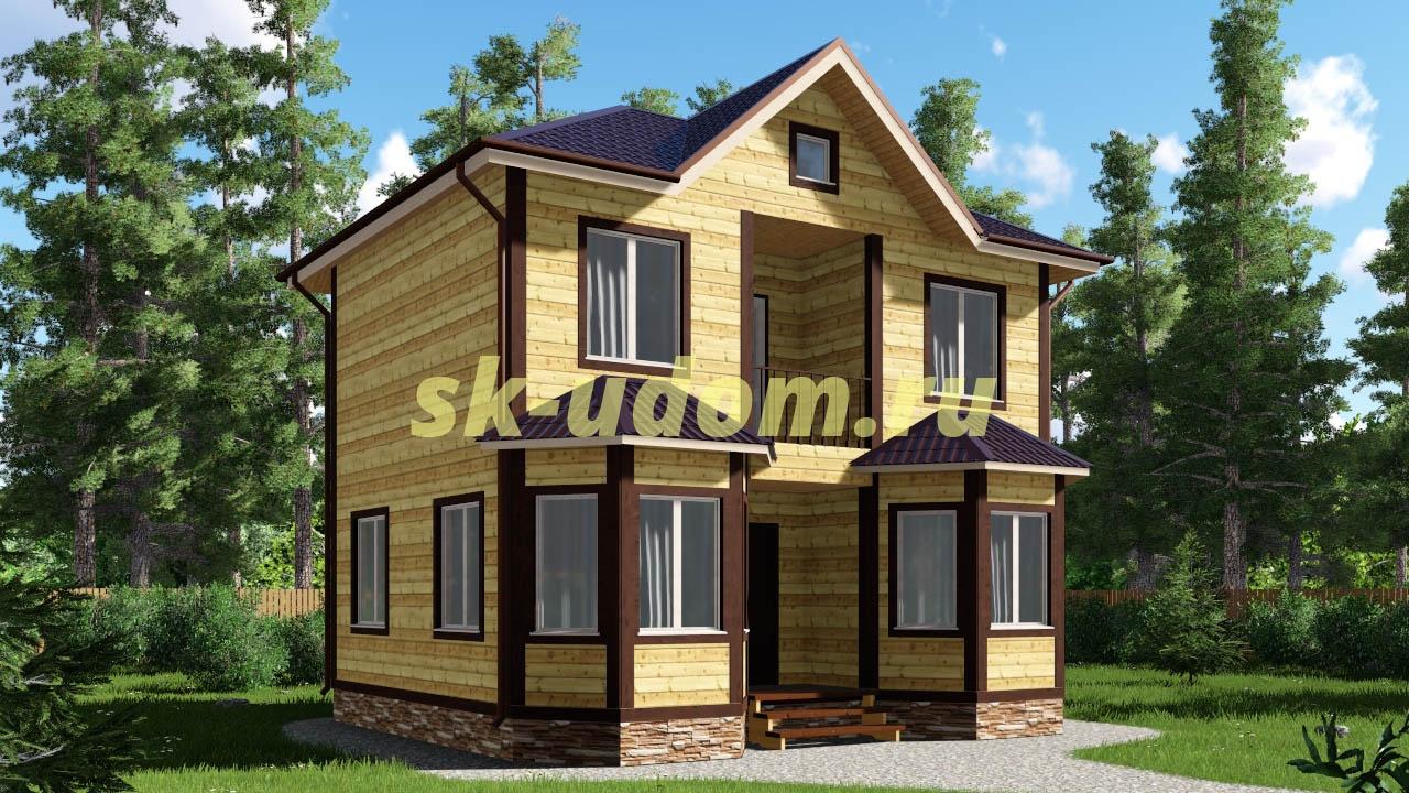 Каркасный дом. Проект ДК-5