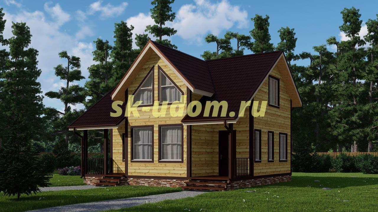 Каркасный дом. Проект ДК-52