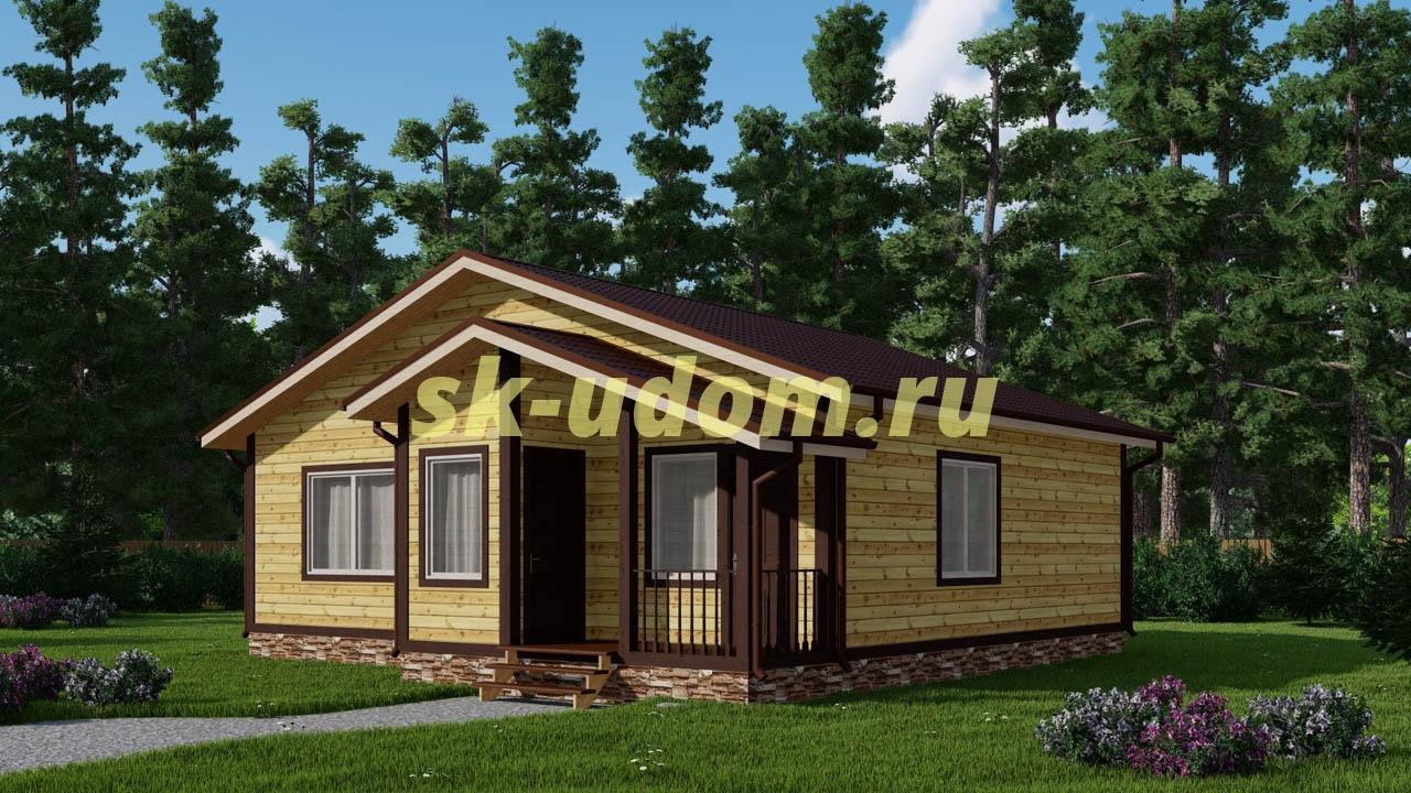 Каркасный дом. Проект ДК-62