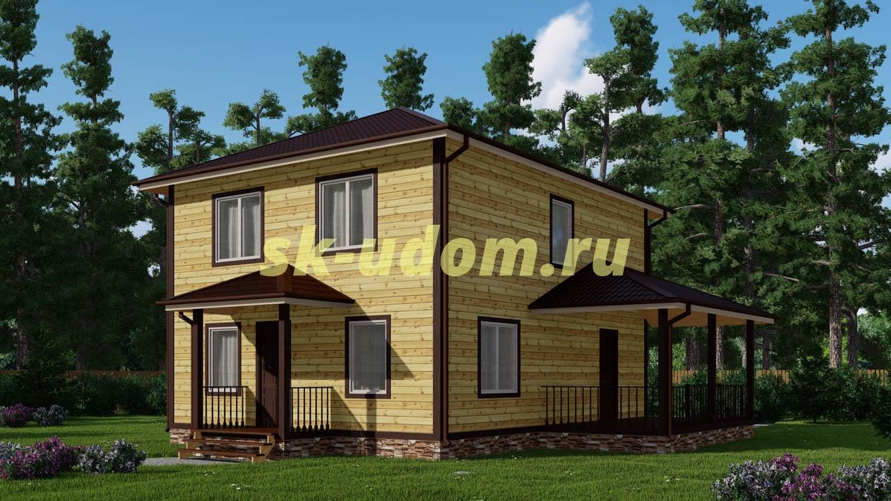 Каркасный дом. Проект ДК-64