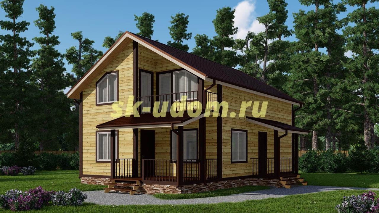 Каркасный дом. Проект ДК-67