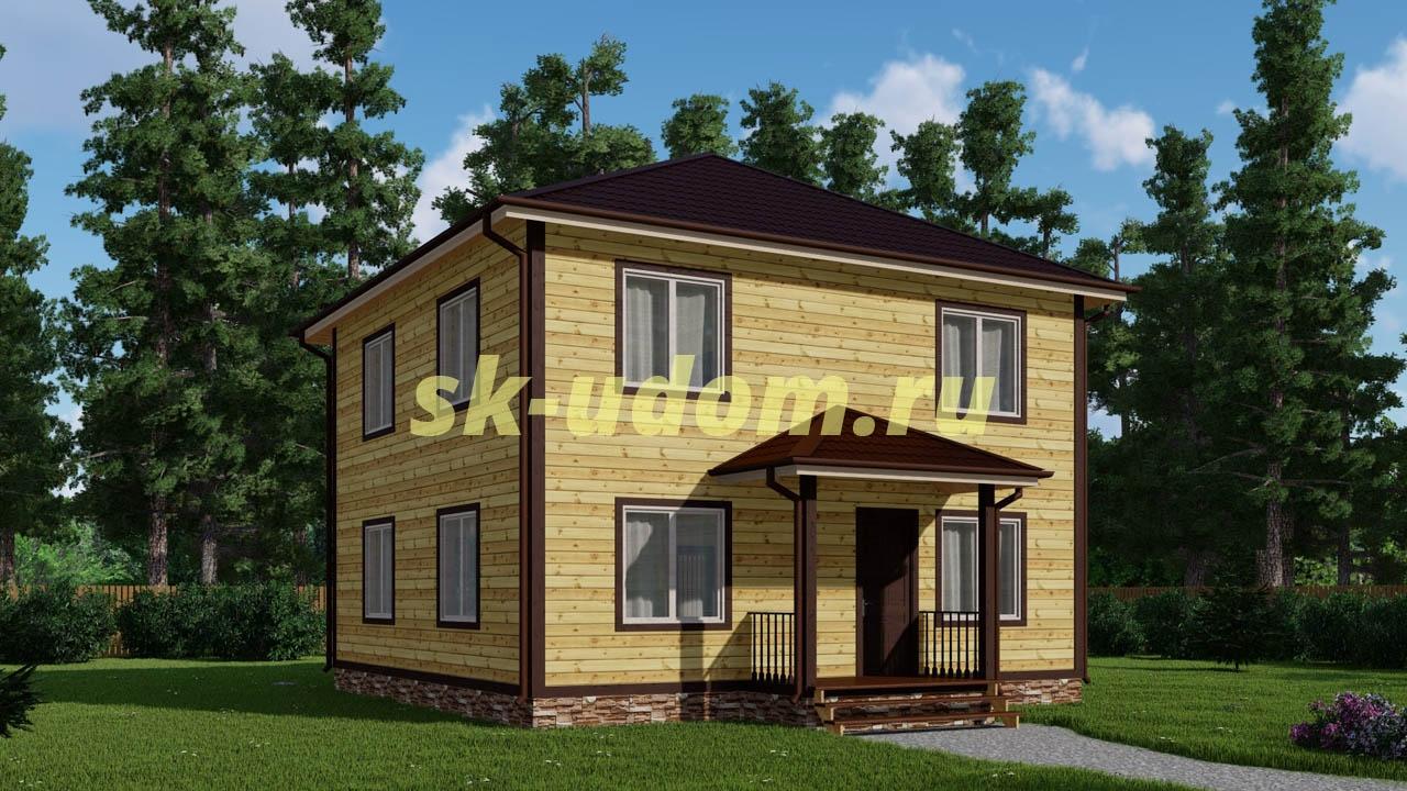 Каркасный дом. Проект ДК-68