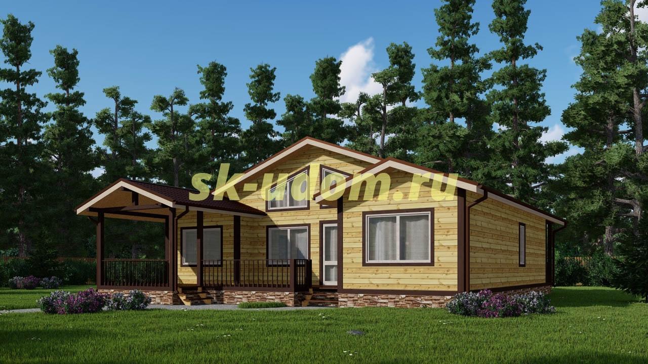 Каркасный дом. Проект ДК-79