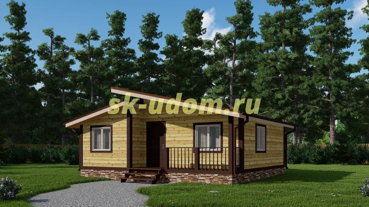 Каркасный дом. Проект ДК-90
