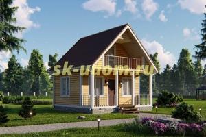 Дачный дом. Проект ДКД-14