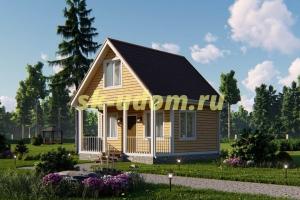 Дачный дом. Проект ДКД-16