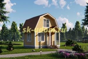 Дачный дом. Проект ДКД-17
