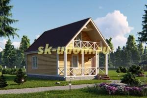 Дачный дом. Проект ДКД-23