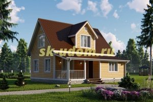 Дачный дом. Проект ДКД-4