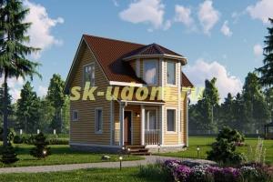 Дачный дом. Проект ДКД-7