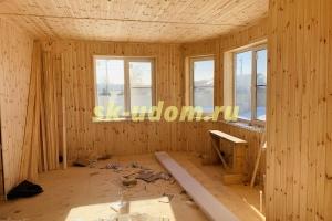 Каркасный дом для постоянного проживания в деревне Бизимово Владимирской области
