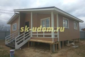 Строительство каркасного дома в д. Борисовское Коломенского района Московской области