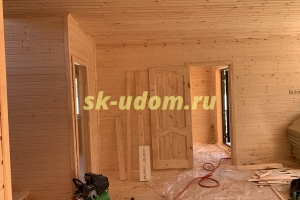 Строительство каркасного дома для постоянного проживания под ключ в посёлке Киевский Нарофоминского района Московской области