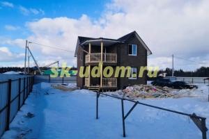 Строительство каркасного дома в д. Костыши Щёлковского района Московской области