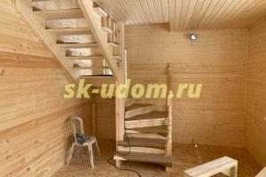 Строительство каркасного дома в д. Леоново Сергиево-Посадского района Московской области