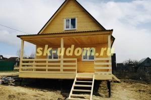 Строительство дачного каркасного дома в д. Паддубки Кольчугинского района Владимирской области
