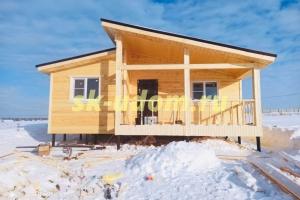 Строительство каркасного дома в п. Прибрежный парк Коломенского района Московской области