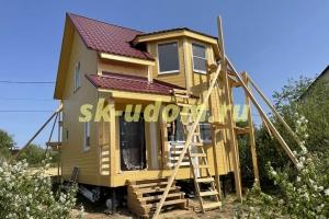 Строительство каркасного дома в д. Прокудино Кольчугинского района Владимирской области