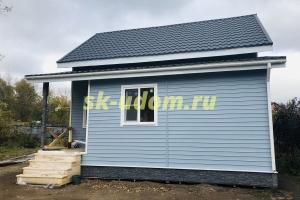 Строительство каркасного дома для постоянного проживания в посёлке Свердловский Щелковского района