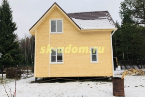 Строительство каркасного дома для круглогодичного проживания в деревне Волково Дмитровского района Московской области