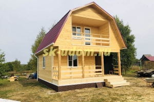 Cтроительство каркасного дома для постоянного проживания в деревне Захарово