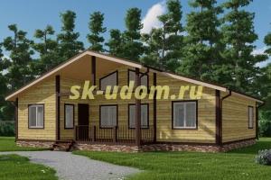 Большой каркасный дом для зимнего проживания