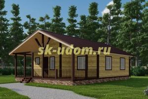 Одноэтажный каркасный дом 9х12 для постоянного проживани