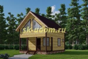 Проект современного каркасного дома 6х8