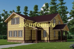 Каркасный дом. Проект ДК-102