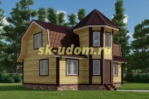 Каркасный дом. Проект ДК-104