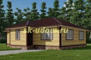 Каркасный дом. Проект ДК-105