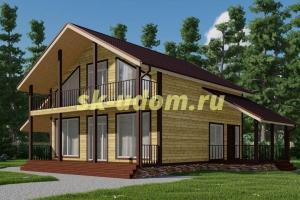 Каркасный дом. Проект ДК-106