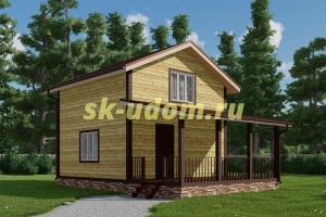 Каркасный дом. Проект ДК-107