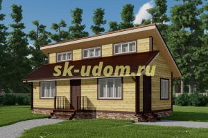 Каркасный дом. Проект ДК-108