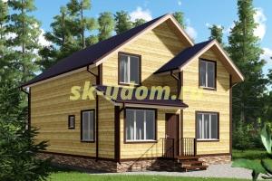 Проект двухэтажного каркасного дома для постоянного проживания