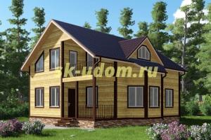 Каркасный дом. Проект ДК-12