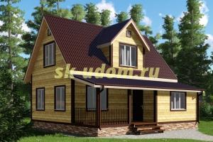 Каркасный дом. Проект ДК-13