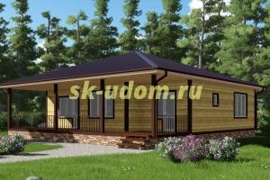 Просторный одноэтажный каркасный дом для постоянного проживания
