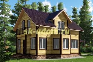 Зимний каркасный дом 7х12